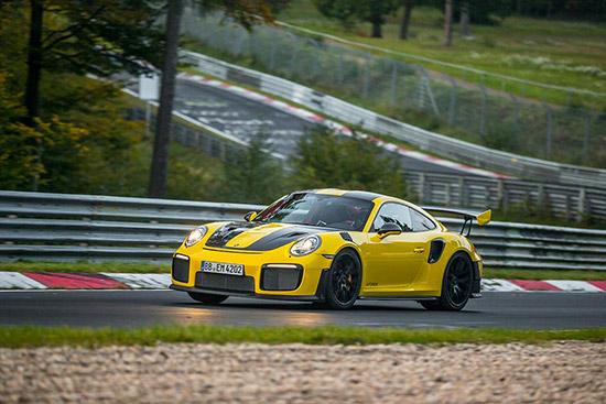 Porsche 911 GT2 RS, Porsche 911 ที่เร็วที่สุด, Porsche รุ่นที่เร็วที่สุด,Porsche 911,Nürburgring Nordschleife,การทำลายสถิติความเร็วบนสนามทดสอบ,Michelin Pilot Cup 2