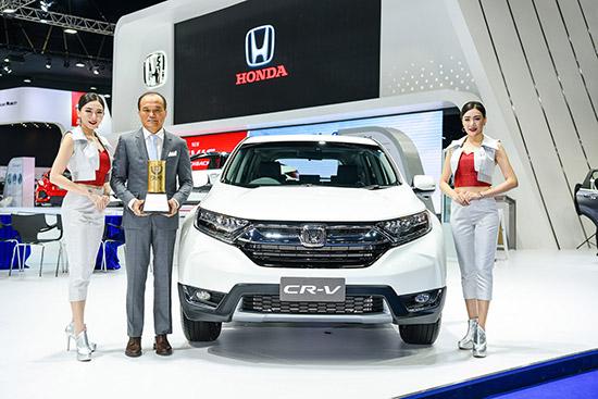 ฮอนด้า ซีอาร์-วี,Honda cr-v,Thailand Car of the Year 2017,สมาคมผู้สื่อข่าวรถยนต์และรถจักรยานยนต์ไทย