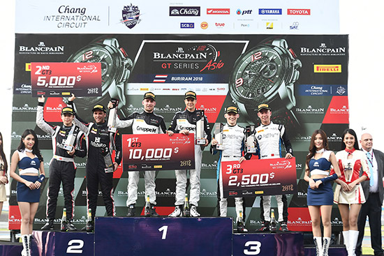 Blancpain GT Series Asia 2018,Blancpain GT Series Asia,บลองค์แปง จีที ซีรีส์ เอเชีย 2018,บลองค์แปง จีที ซีรีส์ เอเชีย,สนามช้าง อินเตอร์เนชันแนล เซอร์กิต จ.บุรีรัมย์,สนามช้าง อินเตอร์เนชันแนล เซอร์กิต,การแข่งขันรถยนต์ทางเรียบ,การแข่งขันรถยนต์ทางเรียบ Blancpain GT Series Asia