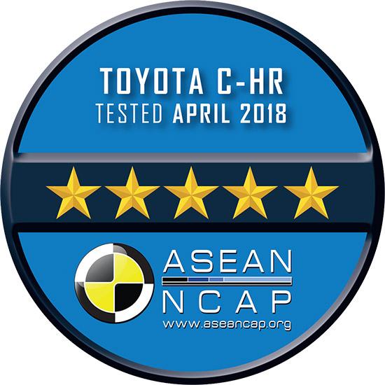 Toyota C-HR, ASEAN NCAP,ทดสอบการชน,ASEAN NCAP 5 ดาว,Toyota C-HR ASEAN NCAP,การทดสอบการชน ASEAN NCAP