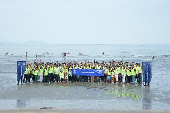 Volvo Thailand,BeatPlasticPollution,Beat Plastic Pollution,เก็บขยะชายหาดบางแสน,วันสิ่งแวดล้อมโลก
