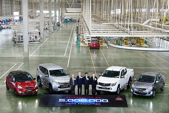 ศูนย์การผลิตแหลมฉบัง,ศูนย์การผลิตมิตซูบิชิแหลมฉบัง,มิตซูบิชิผลิตรถยนต์ครบ 5 ล้านคัน,โรงงานผลิตรถยนต์มิตซูบิชิ,โรงงานผลิตรถยนต์มิตซูบิชิแหลมฉบัง,Drive your Ambition