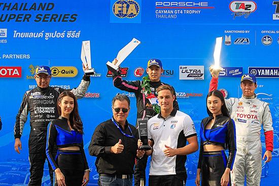 AAS Motorsport,Porsche Cayman GT4 Trophy Thailand,Thailand Super Series 2018,สนาม ช้าง อินเตอร์เนชั่นแนล เซอร์กิต