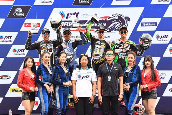 ผลการแข่งขันพีทีที บีอาร์ไอซี ซูเปอร์ไบค์ แชมเปี้ยนชิพ 2018,ผลการแข่งขันพีทีที บีอาร์ไอซี ซูเปอร์ไบค์,PTT BRIC,ผลการแข่งขัน PTT BRIC Superbike 2018,ฐิติพงศ์ วโรกร,คอร์ คาวาซากิ ไทยแลนด์ เรซซิ่ง ทีม,อนุชา นาคเจริญศรี,ยามาฮ่า ไรเดอร์ส คลับ เรซซิ่ง ทีม