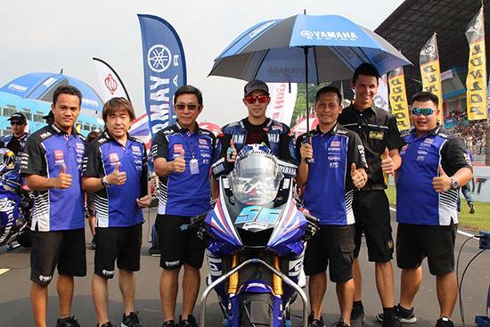 โฟลท รัฐพงษ์ วิไลโรจน์,รัฐพงษ์ วิไลโรจน์,ยามาฮ่า ไทยแลนด์ เรซซิ่งทีม,YZF-R6,SuperSport 600 cc,เอเชีย โร้ด เรซซิ่ง แชมเปี้ยนชิพ 2018 สนาม 5,Asia Road Racing Championship 2018,อนุภาพ ซามูล,พีรพงศ์ บุญเลิศ
