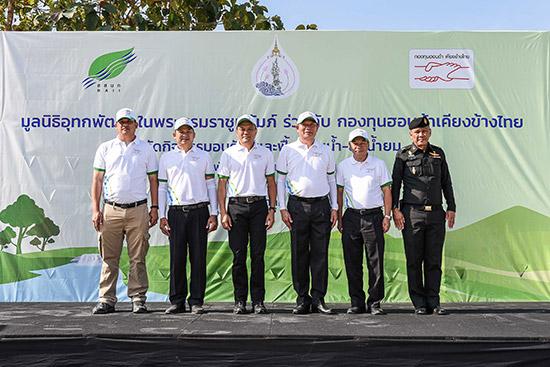 กองทุนฮอนด้าเคียงข้างไทย,มูลนิธิอุทกพัฒน์,ลุ่มน้ำยม,โครงการพัฒนาแหล่งน้ำตามแนวพระราชดำริ,สร้างฝายหินก่อ,ฝายหินก่อ,ฝายชะลอน้ำ,อ่างเก็บน้ำแม่จั๊ว