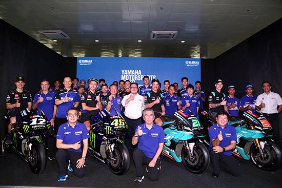 ยามาฮ่า เรซซิ่ง,วาเลนติโน่ รอสซี่,มาเวริค บีญาเลส,ทีม Monster Energy Yamaha MotoGP,MotoGP,MotoGP 2019,ยามาฮ่า ไทยแลนด์ เรซซิ่งทีม,CEV moto2,อนุภาพ ซามูล,เขมินท์ คูโบะ