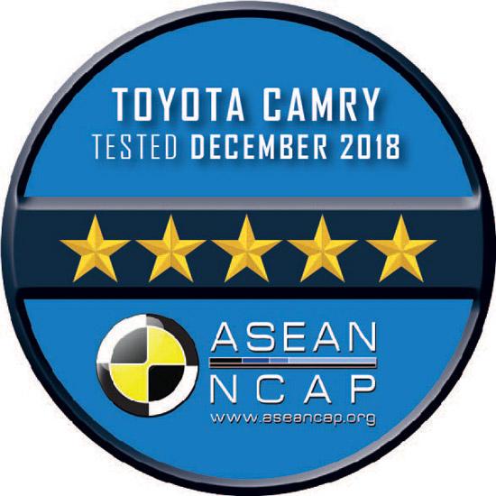 โตโยต้า คัมรี,ASEAN NCAP,การรับรองมาตรฐานความปลอดภัยระดับ 5 ดาว,ASEAN NCAP 5 ดาว,Toyota New Global architecture,TNGA,Toyota CAMRY,Toyota CAMRY ASEAN NCAP,ASEAN NCAP แบบใหม่