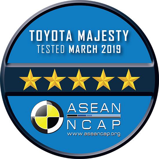 Toyota Majesty ASEAN NCAP 5 ดาว,ASEAN NCAP 5 ดาว,Toyota Majesty มาตรฐานความปลอดภัยระดับ 5 ดาว,ASEAN NCAP Toyota Majesty