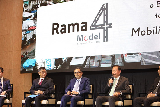 โครงการพระราม 4 โมเดล,Rama 4 Model,Toyota Mobility Foundation,มูลนิธิโตโยต้า โมบิลิตี้,แก้ปัญหาการจราจร,ปัญหาการจราจร,แก้ปัญหาการจราจรถนนพระราม 4