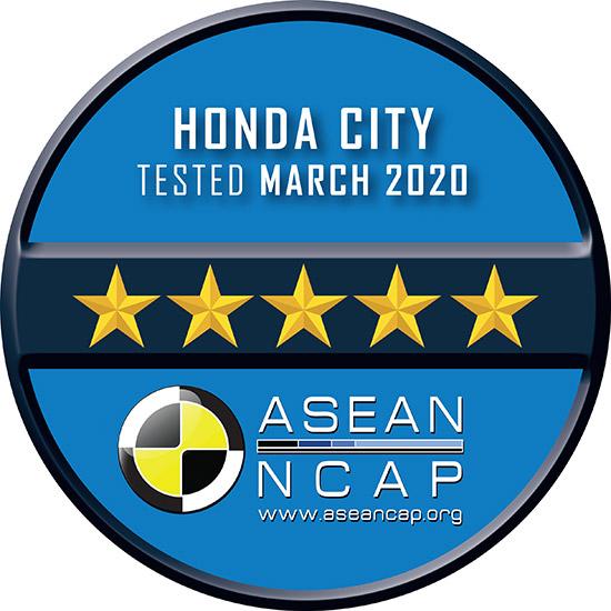 ฮอนด้า ซิตี้ เทอร์โบ,ASEAN NCAP 5 ดาว,ทดสอบการชน ASEAN NCAP,มาตรฐานความปลอดภัย ASEAN NCAP,All new Honda City,Honda City turbo ASEAN NCAP,City turbo ASEAN NCAP,ASEAN NCAP 2020