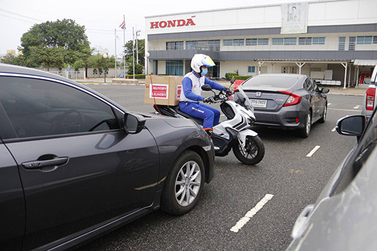 เทคนิคขับขี่รถจักรยานยนต์,ศูนย์ฝึกขับขี่ปลอดภัยฮอนด้า,ศูนย์ฝึกขับขี่ปลอดภัยฮอนด้า บางชัน,รถจักรยานยนต์ฮอนด้า,พนักงานขนส่ง,โควิด-19