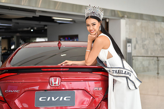 อแมนด้า ชาลิสา,อแมนด้า ชาลิสา ออบดัม,มิสยูนิเวิร์สไทยแลนด์ 2020,ฮอนด้า ซีวิค รุ่น TURBO RS สีใหม่,Honda Civic TURBO RS