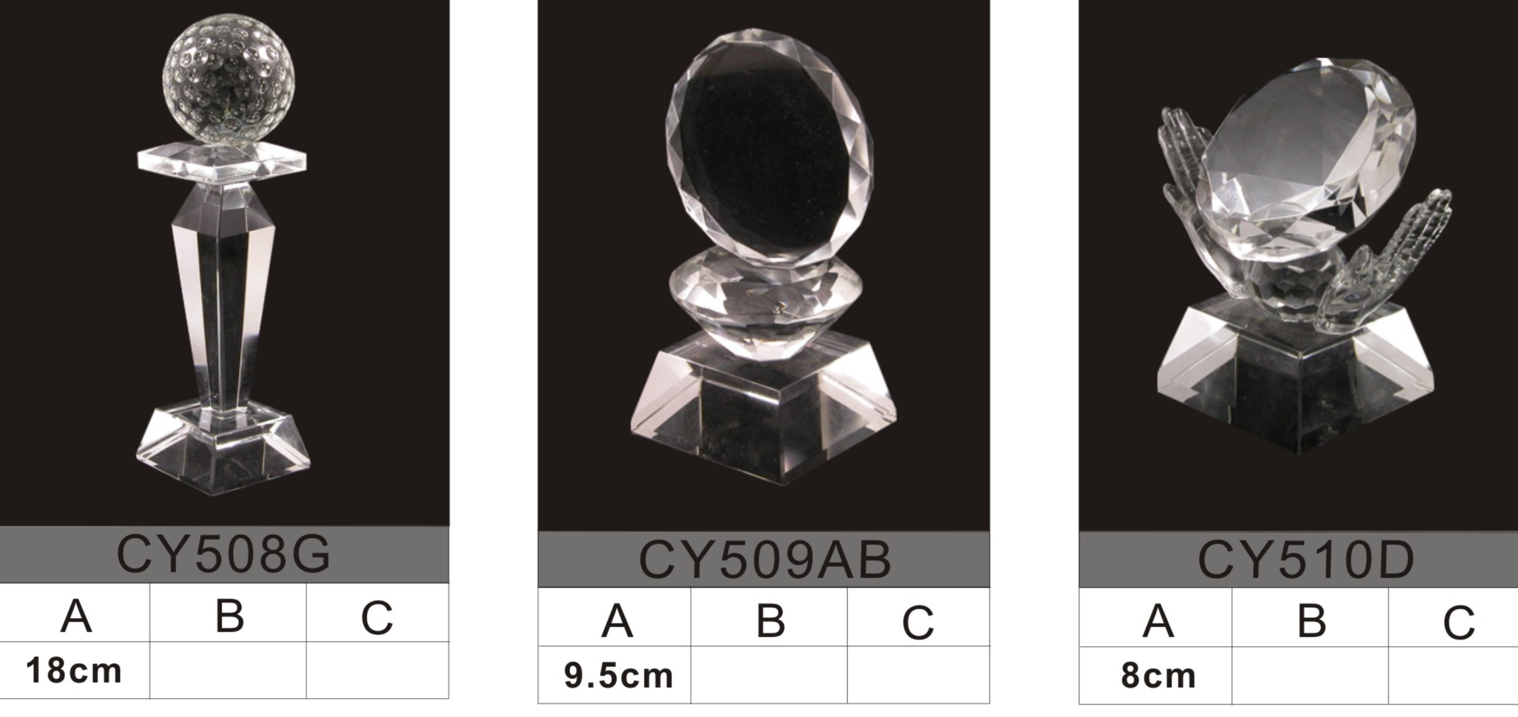 small crystal trophy 23