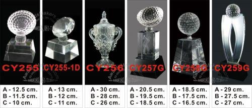 crystal trophy 9