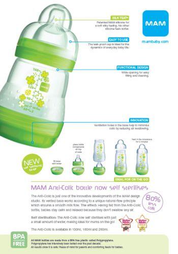 MAM ชุดแรกเกิด ป้องกันโคลิค 15 ชิ้น MAM Anti-Colic Bottle Starter Set (15 pcs)