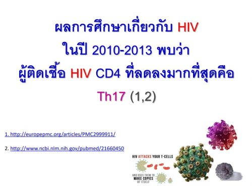 ติดเชื้อ HIV เพิ่มCD4