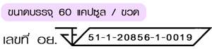 เลขที่ อย. 51-1-20856--1-0019