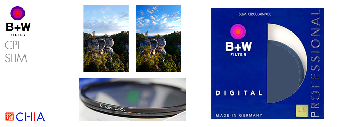 B+W CPL SLIM Filter 52 58 62 67 72 77 mm