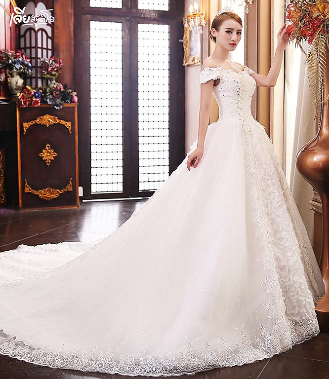 เช่าชุดแต่งงานวันจริง ชุดวิวาห์ไทย เจ้าบ่าวเจ้าสาว พรีเวดดิ้ง หาดใหญ่ เจียสตูดิโอ ราคาถูก prewedding-dress-rental-hatyai--14
