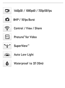 Gopro Hero 4 Black Silver Action Camera กล้ออง โกโปร แอคชั่นคาเมร่า ถูก เจีย หาดใหญ่-ss1
