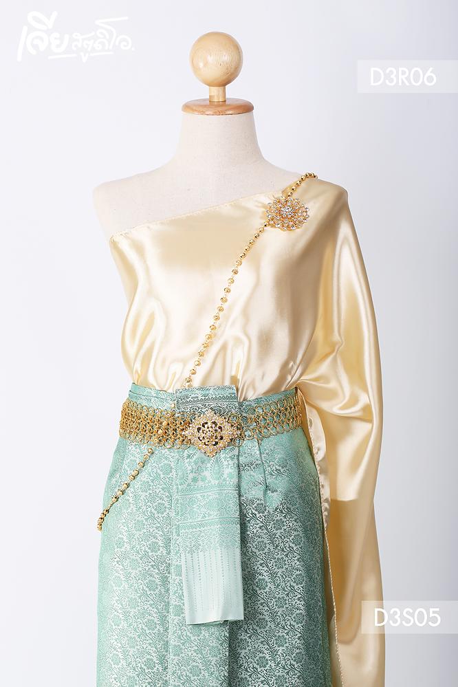 เช่าชุดไทยสไบ ประยุกต์ แม่หญิงเรไร ลูกไม้ ดารา งานหมั้น เพื่อนเจ้าสาว เจียหาดใหญ่ ราคาถูก thai-dresss-7