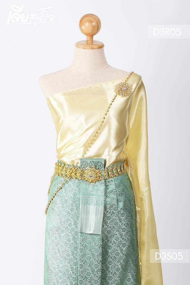 เช่าชุดไทยสไบ ประยุกต์ แม่หญิงเรไร ลูกไม้ ดารา งานหมั้น เพื่อนเจ้าสาว เจียหาดใหญ่ ราคาถูก thai-dresss-9