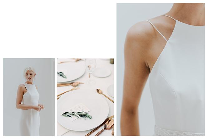 [ เจียหาดใหญ่ ] มินิมอล ขาวเรียบ เช่าชุดเจ้าสาว เพื่อนเจ้าสาว Minimal Dress Rental Hatyai-3
