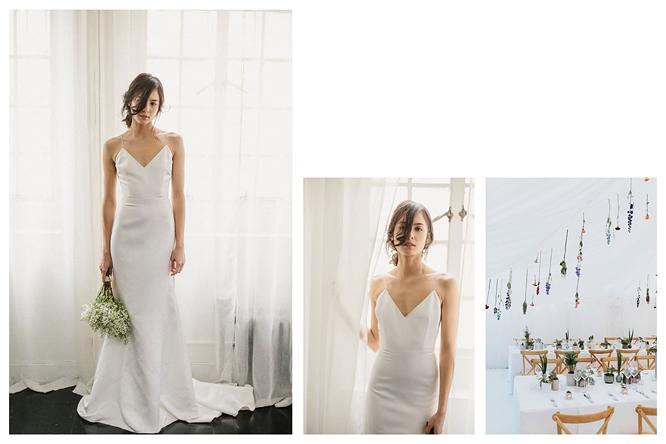 [ เจียหาดใหญ่ ] มินิมอล ขาวเรียบ เช่าชุดเจ้าสาว เพื่อนเจ้าสาว Minimal Dress Rental Hatyai-2-3