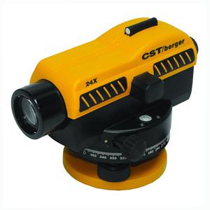 กล้องระดับขนาดกำลังขยาย 24 เท่า ยี่ห้อ CST/berger รุ่น SAL-24N  ผลิตภัณฑ์ประเทศอเมริกา      1. เป็นกล้องชนิดอัตโนมัติพร้อมขาตั้ง 2. กล้องเล็งเป็นระบบเห็นภาพตั้งตรงตามธรรมชาติ 3. มีกำลังขยายไม่น้อยกว่า 24 เท่า 4. ขนาดเส้นผ่าศูนย์กลางของเลนส์ปากกล้องไม่น้อยกว่า 36 มิลลิเมตร  5. ขนาดความกว้างของภาพที่เห็นในระยะ 100 เมตร ไม่น้อยกว่า 2.3 เมตร หรือ 1 องศา 20 ลิปดา  6. ระยะมองเห็นภาพชัดใกล้สุด ไม่เกิน 0.3 เมตร 7. ค่าตัวคูณคงที่ 100 8. มีระบบอัตโนมัติโดยใช้ COMPENSATOR ที่มีช่วงการทำงานของระบบอัตโนมัติ ไม่น้อยกว่า ± 15 ลิปดา  9. ความละเอียดในการทำระดับ ในระยะ 1 กม.ไม่เกิน ± 2.0 มิลลิเมตร 10. ความไวของระดับน้ำฟองกลมไม่เกินกว่า 8 ลิปดา ต่อ 2 มิลลิเมตร หรือไวกว่า 11. มีจานองศาอ่านมุมราบ 360 องศา มีขีดกำกับทุกๆ 1 องศา 12. ขนาดเส้นผ่าศูนย์กลางของจานองศาไม่น้อยกว่า 108 มิลลิเมตร 13. อ่านค่ามุมโดยตรงไม่เกิน 1 องศา 14. อ่านค่ามุมโดยประมาณไม่เกิน 6 ลิปดา 15. ต้องได้รับประกาศนียบัตร ISO 9001