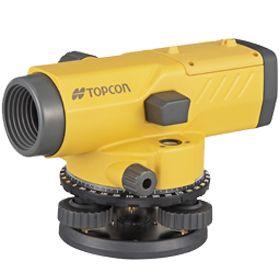 กล้องระดับขนาดกำลังขยาย 24 เท่า ยี่ห้อ TOPCON รุ่น AT-B4   ผลิตภัณฑ์ประเทศญี่ปุ่น      1. เป็นกล้องชนิดอัตโนมัติพร้อมขาตั้ง 2. กล้องเล็งเป็นระบบเห็นภาพตั้งตรงตามธรรมชาติ 3. มีกำลังขยายไม่น้อยกว่า 24 เท่า 4. ขนาดเส้นผ่าศูนย์กลางของเลนส์ปากกล้องไม่น้อยกว่า 32 มิลลิเมตร  5. ขนาดความกว้างของภาพที่เห็นในระยะ 100 เมตร ไม่น้อยกว่า 2.5 เมตร หรือ 1 องศา 25 ลิปดา  6. ระยะมองเห็นภาพชัดใกล้สุด ไม่เกิน 0.3 เมตร 7. ค่าตัวคูณคงที่ 100 8. มีระบบอัตโนมัติโดยใช้ COMPENSATOR ที่มีช่วงการทำงานของระบบอัตโนมัติ ไม่น้อยกว่า ± 15 ลิปดา  9. ความละเอียดในการทำระดับ ในระยะ 1 กม.ไม่เกิน ± 2 มิลลิเมตร 10. ความไวของระดับน้ำฟองกลมไม่เกินกว่า 10 ลิปดา ต่อ 2 มิลลิเมตร หรือไวกว่า 11. มีจานองศาอ่านมุมราบ 360 องศา มีขีดกำกับทุกๆ 1 องศา 12. ขนาดเส้นผ่าศูนย์กลางของจานองศาไม่น้อยกว่า 103 มิลลิเมตร 13. อ่านค่ามุมโดยตรงไม่เกิน 1 องศา 14. อ่านค่ามุมโดยประมาณไม่เกิน 6 ลิปดา 15. ต้องได้รับประกาศนียบัตร ISO 9001