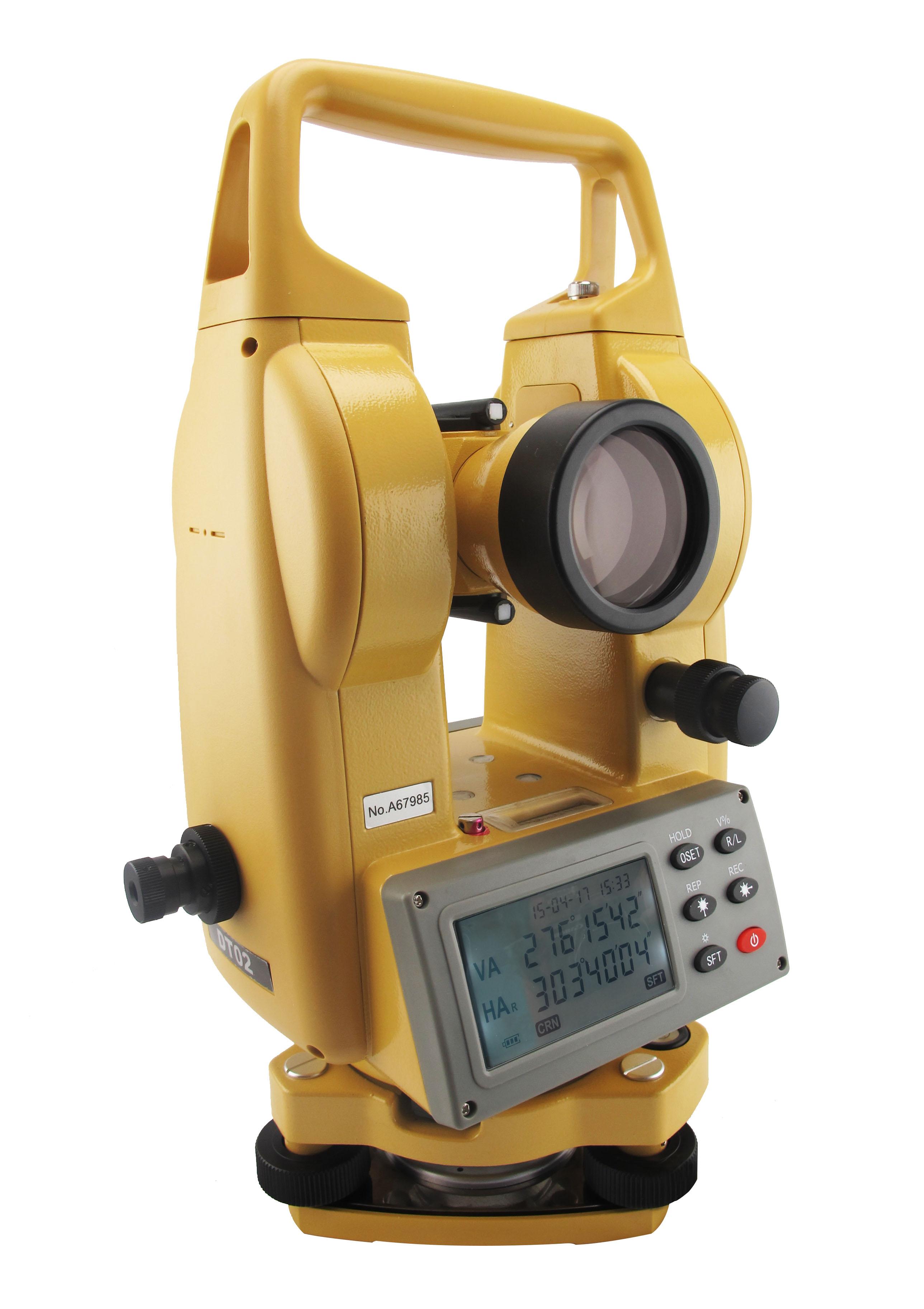 กล้องวัดมุมอิเล็กทรอนิกส์ ชนิดอ่านค่ามุมได้ละเอียด 5 ฟิลิปดา ( ระบบอัตโนมัติ ) ยี่ห้อ CIVIL รุ่น DT-02     ผลิตภัณฑ์ประเทศจีน  1. กล้องเล็งเป็นระบบเห็นภาพตั้งตรง 2. กำลังขยาย  30 เท่า 3. ขนาดเส้นผ่าศูนย์กลางเลนส์ปากกล้องไม่ต่ำกว่า  45 มิลลิเมตร 4. ขนาดความกว้างของภาพที่เห็นในระยะ  100 เมตร ไม่น้อยกว่า 2.6 เมตร หรือ 1 องศา 30 ลิปดา 5. ระยะมองเห็นภาพชัดใกล้สุดไม่เกิน  1.3  เมตร 6. ค่าตัวคูณคงที่  100 7. ค่าตัวบวกคงที่  0 8. ระบบอัตโนมัติโดยใช้ COMPENSATOR มีช่วงการทำงาน  ±3 ลิปดา 9. เป็นกล้องแบบอิเล็กทรอนิกส์แสดงหน่วยวัดเป็น องศา ลิปดา ฟิลิปดา      เป็นตัวเลขอ่านได้บนจอ LCD ( Liquid Crystal Display ) ทั้ง 2 หน้าของตัวกล้อง 10. แสดงค่ามุมที่วัดได้ละเอียดโดยตรง ไม่เกิน  5 ฟิลิปดา 11. ค่าความถูกต้องในการอ่านมุม ( Accuracy ) ไม่เกิน  2 ฟิลิปดา 12. ความไวของระดับฟองกลม  8  ลิปดา  / 2 มิลลิเมตร หรือดีกว่า 13. ความไวของระดับฟองยาว  30  ฟิลิปดา / 2 มิลลิเมตร หรือดีกว่า 14. สามารถแสดงผลทั้งเป็นมุมราบ และเป็นมุมดิ่ง 15. มีแบตเตอรี่ติดตั้งภายในและสามารถบอกระดับแบตเตอรี่ได้ 16. ต้องได้รับประกาศนียบัตร ISO 9001
