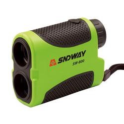 กล้องวัดระยะ ( Laser Distance Meter Telescope ) ยี่ห้อ SNDWAY รุ่น SW900 ผลิตภัณฑ์ประเทศจีน  1. กล้องเล็ง     1.1 ภาพที่มองเห็นต้องเป็นภาพหัวตั้งตรง     1.2 กล้องส่องมีกำลังขยาย 6 เท่า     1.3 ลักษณะคล้ายกล้องส่องทางไกลโดยทั่วไป 2. ระบบวัดระยะทาง     2.1 ความถูกต้องในการวัดระยะทาง ±1.0 เมตร     2.2 เลือกแสดงค่าระยะทางเป็น หน่วยเมตร     2.3 วัดระยะทางโดยไม่ต้องใช้เป้าปริซึมได้ไกลประมาณ 5-900 เมตร     2.4 แสดงผลการวัดระยะเป็นตัวเลข ภายในกล้องส่อง     2.5 แบตเตอรี่ที่ให้พลังงาน สามารถหาซื้อได้โดยทั่วไปในท้องตลาด