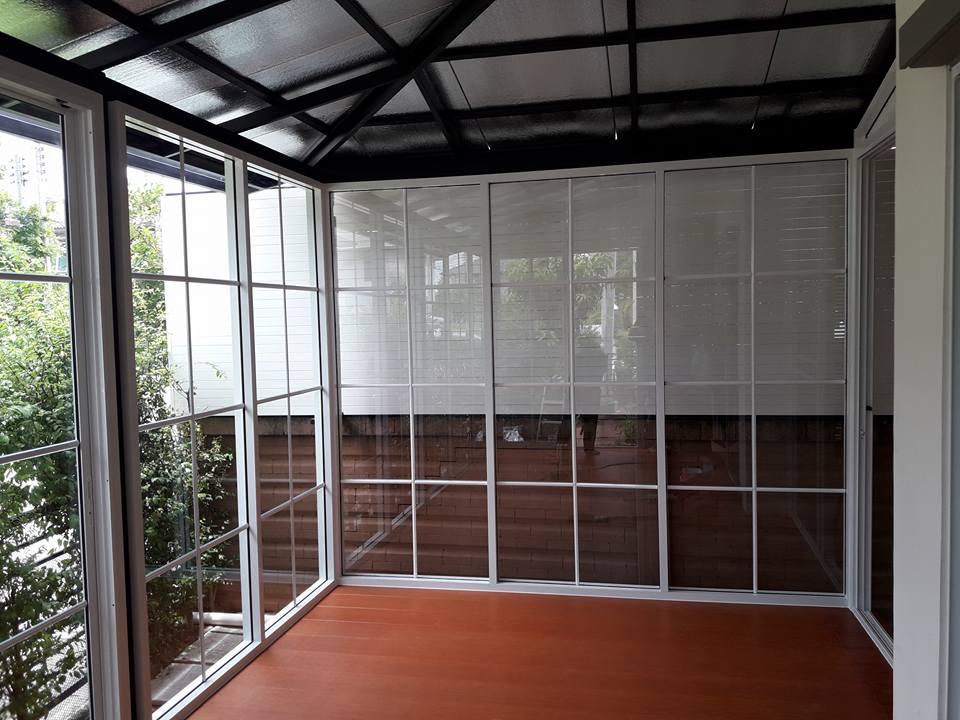 บานเลื่อนแบ่ง3,ประตูกระจก,กั้นกระจก