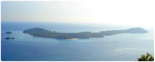 เกาะหลีเป๊ะ มองจากผาชะโด บนเกาะอาดัง