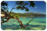 หาดทรายขาว เกาะราวี