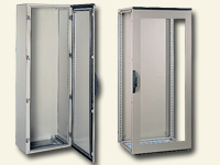 Steel floor-standing enclosures