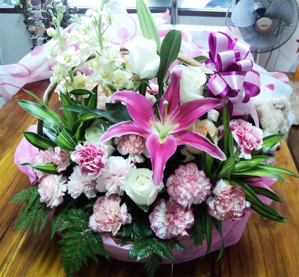 กระเช้าดอกไม้ ไม่แพง
