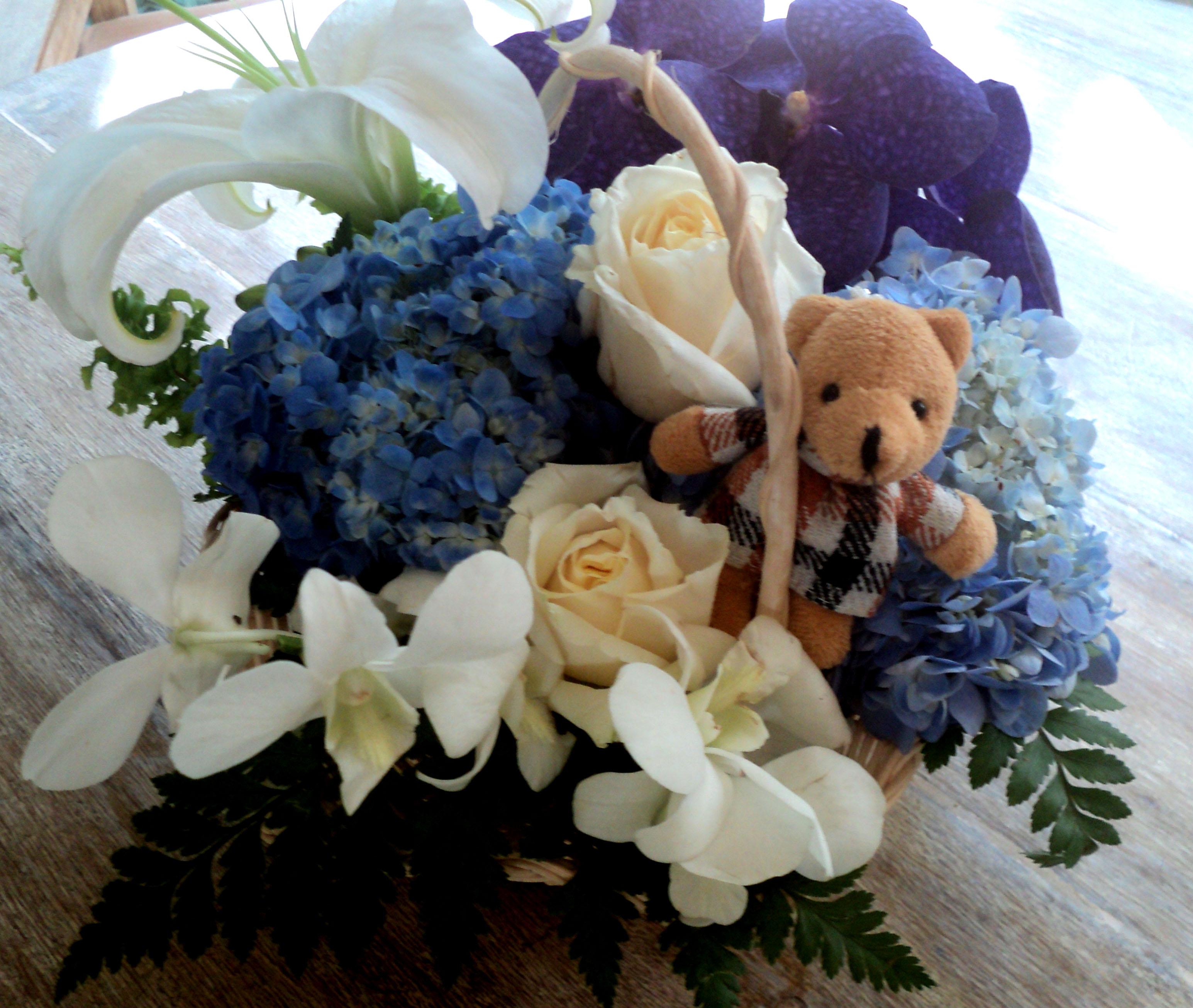 กระเช้าดอกไม้ ส่งฟรี พระราม 3