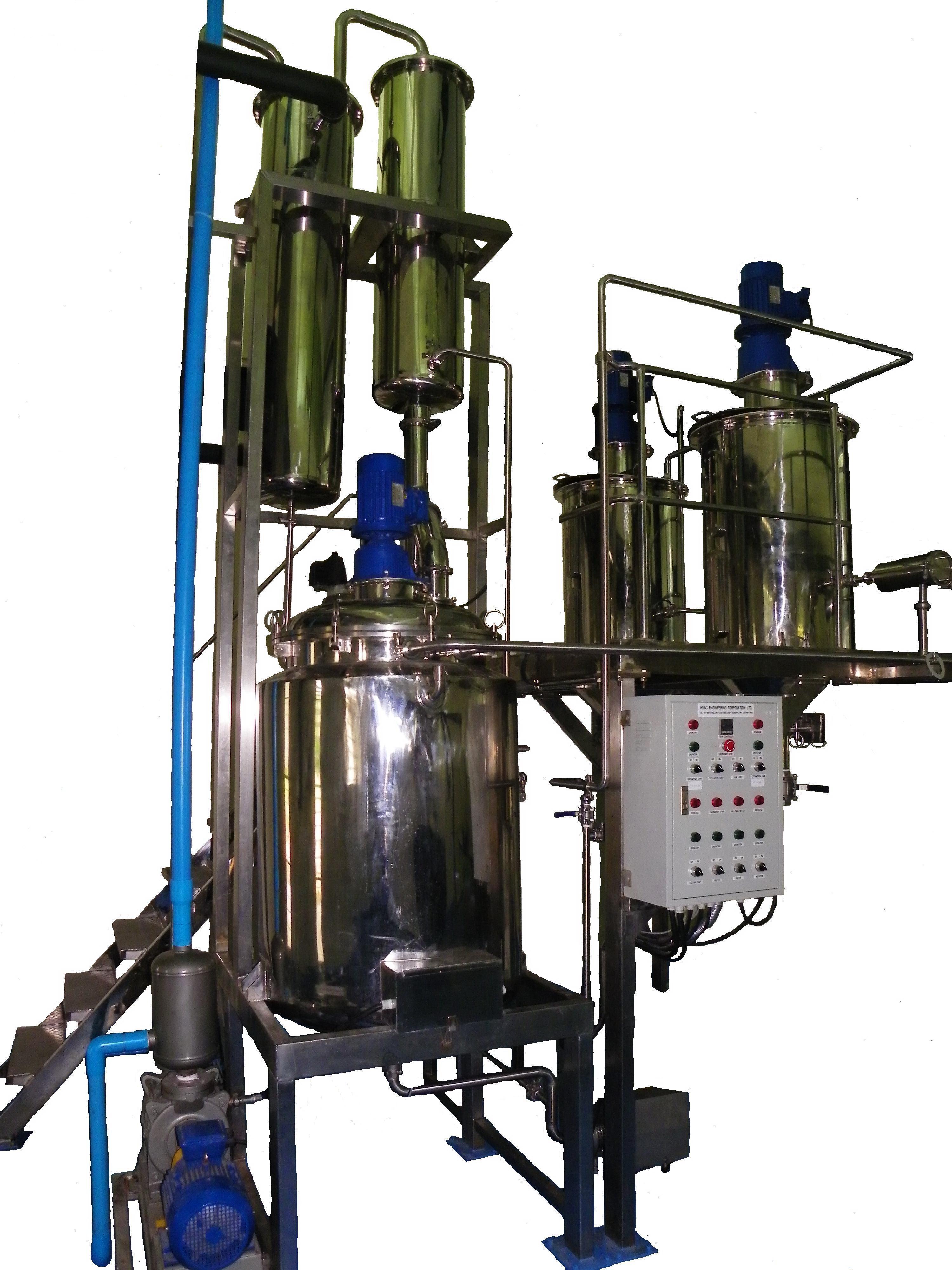 ชุดถังสกัดพร้อมเครือ่งระเหยแอลกอฮอล: Extractor with Alcohol vacuum evaporator set