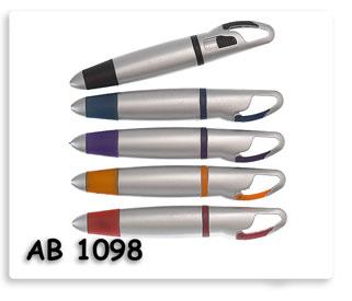 ปากกาลูกลื่นพลาสติก พร้อมขอเกี่ยว ปากกาพรีเมี่ยมสกรีนโลโก้ข้อความ