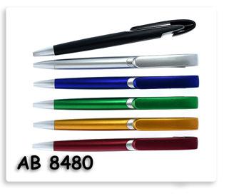 ปากกาพลาสติกลูกลื่น  แบบกดเปิดปิด ขายปากกาพรีเมี่ยมสกรีนโลโก้