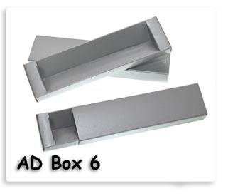 กล่องใส่ปากกากระดาษสีเทา สินค้าพรีเมี่ยมพร้อมสกรีนข้อความ