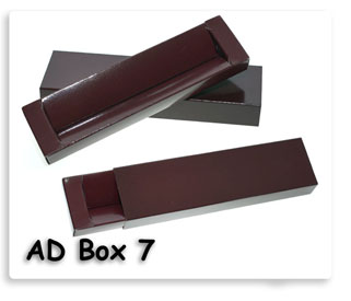 กล่องใส่ปากกา กระดาษ สีแดง เลือดหมู ของพรีเมี่ยมพร้อมสกรีนโลโก้