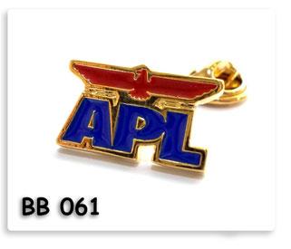 เข็มกลัดโลหะ APL ชุบทองลงสี