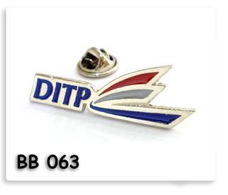 เข็มกลัดโลหะชุบเงิน DITP