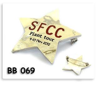 เข็มกลัดโลหะเงิน ลงสี SFCC