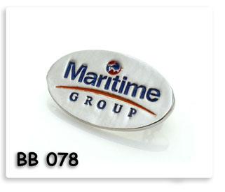 เข็มกลั๊ดโลหะ เซาะร่องลงสี ชุบเงิน Maritime Group ของพรีเมี่ยมสั่งผลิต
