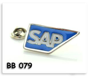 เข็มกลั๊ดโลหะ เซาะร่องลงสี ชุบเงิน SAP