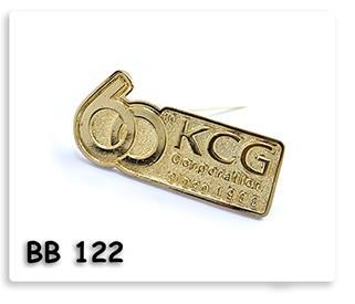 เข็มกลัดโลหะ ชุดบทอง 60ปี KCG